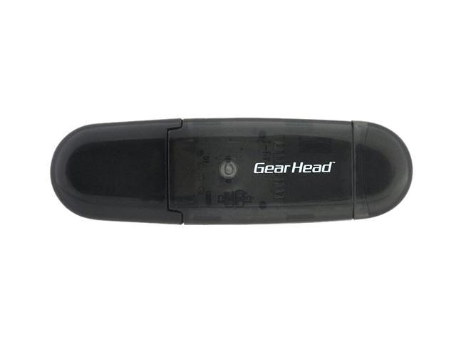 Gear Head CR3300MSDBLK Flash Reader USB 2.0 Card Reader
