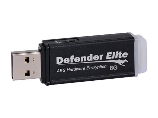 Kanguru Defender Elite 8GB USB 2.0 Flash Drive Hardware-based encryption Model KDFE-8G