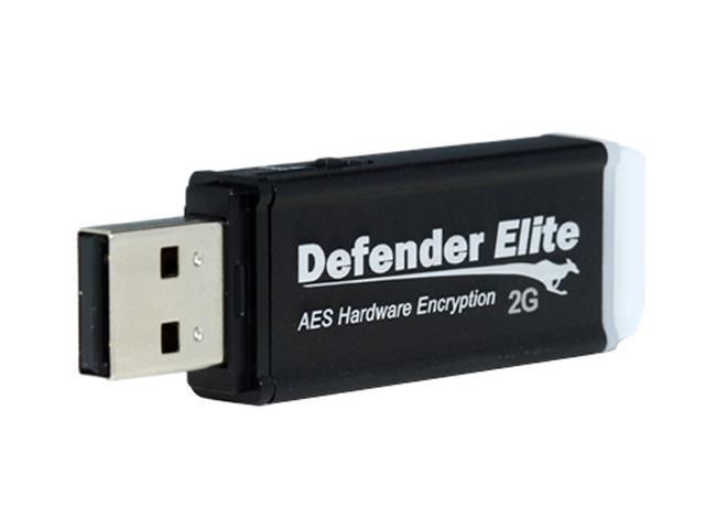 Kanguru Defender Elite 2GB USB 2.0 Flash Drive Hardware-based encryption