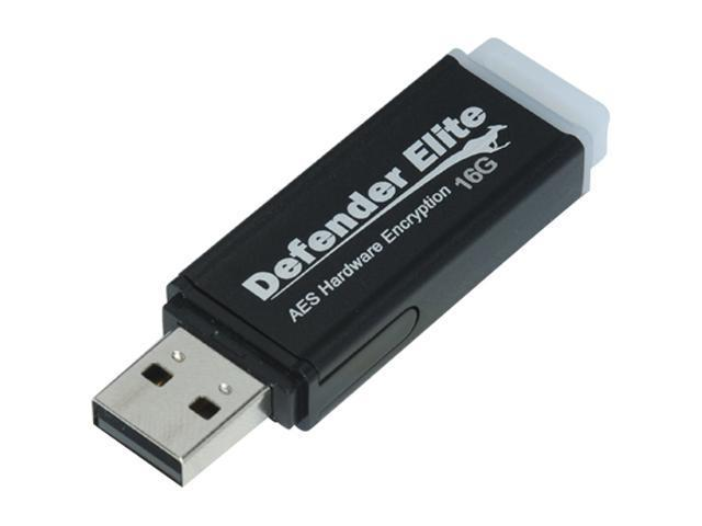 Kanguru Defender Elite 16GB USB 2.0 Flash Drive Hardware-based encryption Model KDFE-16G
