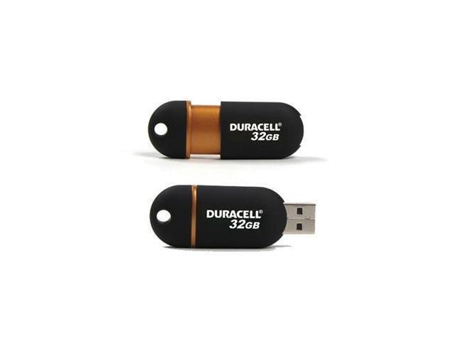 Duracell Capless DU-ZP-32G-CA-N3-R 32 GB USB 2.0 Flash Drive - Black, Copper