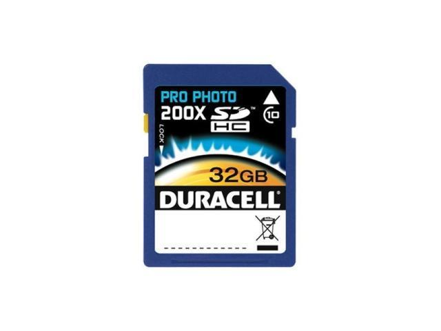 Duracell 32GB Secure Digital High-Capacity (SDHC) Flash Card Model DU-SD1032G-C