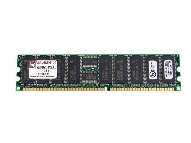 Kingston ValueRAM 512MB 184-Pin DDR SDRAM ECC Registered DDR 266 (PC 2100) Server Memory Model KVR266X72RC25/512