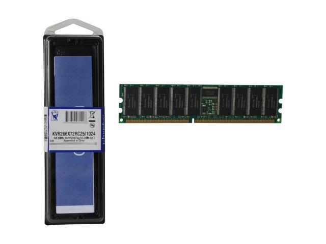 Kingston ValueRAM 1GB 184-Pin DDR SDRAM ECC Registered DDR 266 (PC 2100) Server Memory Model KVR266X72RC25/1024