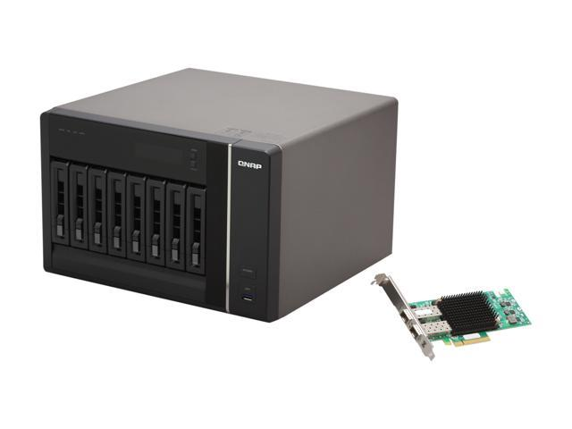 QNAP TS-879-PRO-E10G-US Diskless System SMB NAS with High Performance