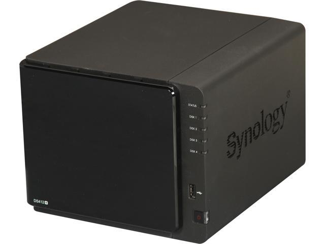 Synology DS412+ 4200 High-Performance & Easy to Manage 4-bay All-in-1 NAS Server for SMB Users