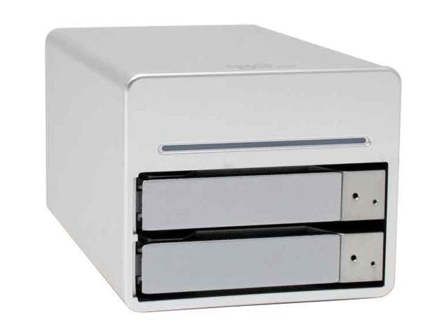 "SANS DIGITAL MS2C1 0, JBOD 2 3.5"" Drive Bays USB 2.0, FireWire 400 & FireWire 800 3 Interfaces 2 Hard Drives in 1 Enclosure"