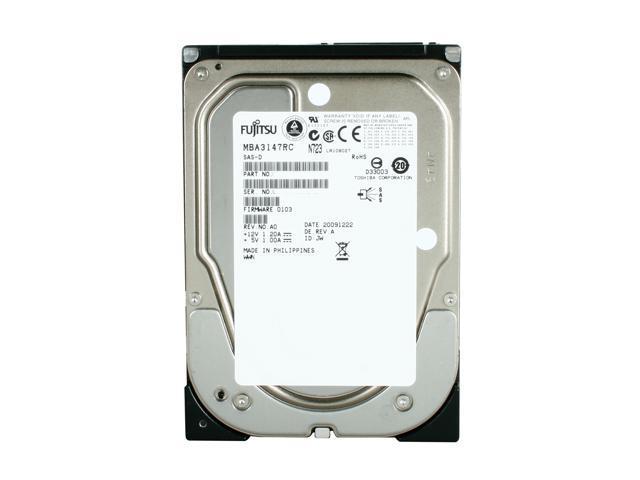 "Fujitsu MBA3147RC 147GB 15000 RPM 16MB Cache Serial Attached SCSI (SAS) 3.5"" Internal Hard Drive Bare Drive"