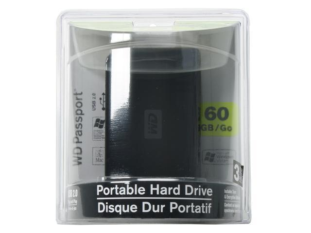 Western Digital Passport 60GB USB 2.0 External Hard Drive WDXMS600TN