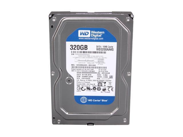 """Western Digital WD Blue WD3200AAKS 320GB 7200 RPM 16MB Cache SATA 3.0Gb/s 3.5"""" Internal Hard Drive -Bare Drive"""
