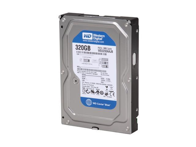 Western Digital Caviar Blue WD3200AAJB 320GB 7200 RPM 8MB Cache IDE Ultra ATA100 / ATA-6 3.5 Inch Internal Hard Drive -Bare Drive
