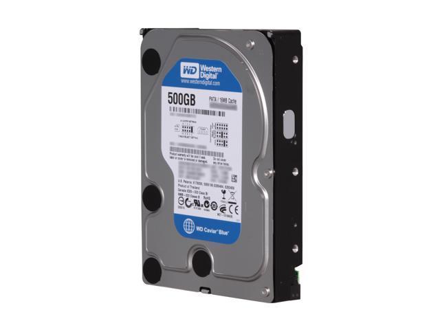 "Western Digital Blue WD5000AAKB 500GB 7200 RPM 16MB Cache IDE Ultra ATA100 / ATA-6 3.5"" Internal Hard Drive Bare Drive"