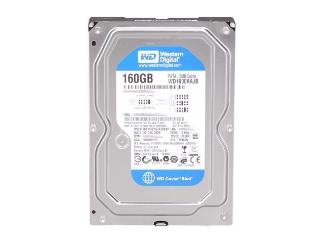"""Western Digital WD Blue WD1600AAJB 160GB 7200 RPM 8MB Cache IDE Ultra ATA100 / ATA-6 3.5"""" Internal Hard Drive Bare Drive"""