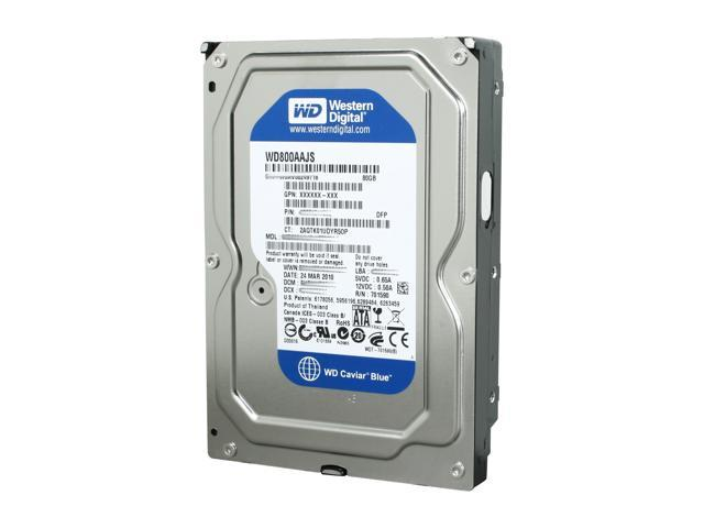 Western Digital Blue WD800AAJS 80GB 7200 RPM 8MB Cache SATA 3.0Gb/s 3.5
