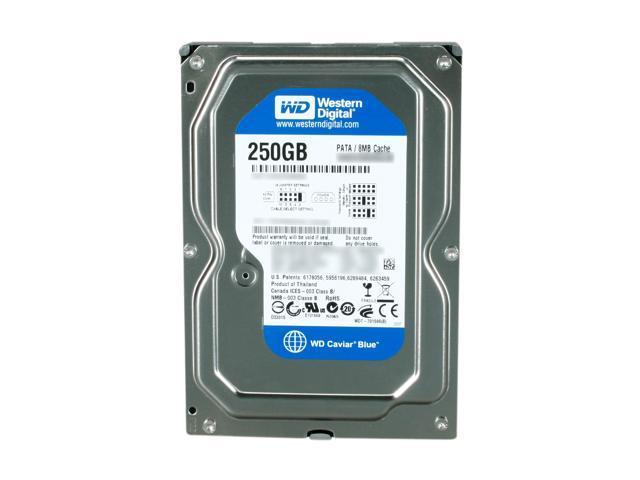 """Western Digital WD Blue WD2500AAJB 250GB 7200 RPM 8MB Cache IDE Ultra ATA100 / ATA-6 3.5"""" Internal Hard Drive Bare Drive"""