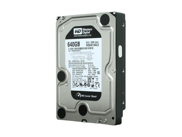 """Western Digital Black WD6401AALS 640GB 7200 RPM 32MB Cache SATA 3.0Gb/s 3.5"""" Internal Hard Drive Bare Drive"""