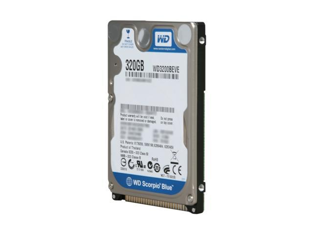 "Western Digital Scorpio Blue WD3200BEVE 320GB 5400 RPM PATA 2.5"" Internal Notebook Hard Drive Bare Drive - OEM"