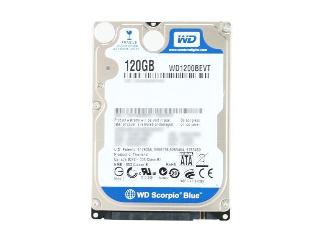 "Western Digital Scorpio Blue WD1200BEVT 120GB 5400 RPM 8MB Cache SATA 3.0Gb/s 2.5"" Notebook Hard Drive Bare Drive"