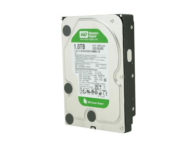 Western Digital WD Green WD10EARS 1TB 5400 RPM 64MB Cache SATA 3.0Gb/s 3.5