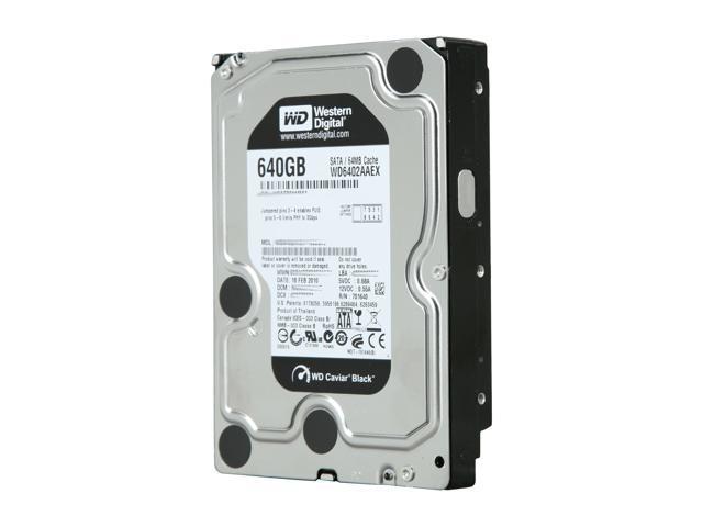 Western Digital Black WD6402AAEX 640GB 7200 RPM 64MB Cache SATA 6.0Gb/s 3.5