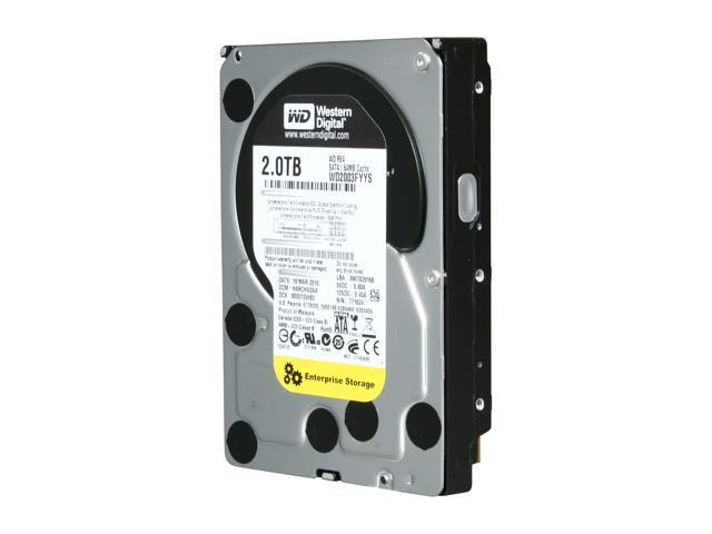 WD RE4 WD2003FYYS 2TB 7200 RPM 64MB Cache SATA 3.0Gb/s 3.5