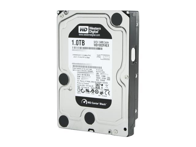 "Western Digital Black WD1002FAEX-20PK 1TB 7200 RPM 64MB Cache SATA 6.0Gb/s 3.5"" Internal Hard Drive - 20 Pack Bare Drive"