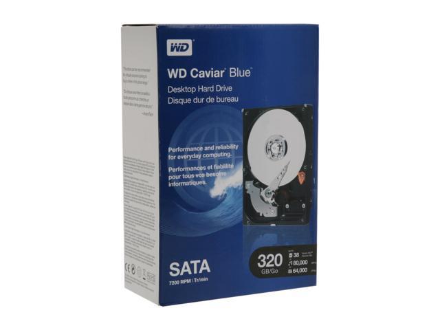 """WD Blue WDBAAX3200ENC-NRSN 320GB 7200 RPM 16MB Cache SATA 3.0Gb/s 3.5"""" Internal Hard Drive Retail kit"""