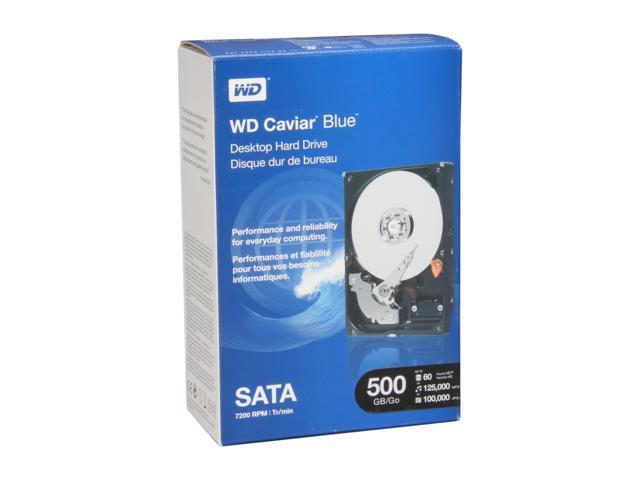 """WD Blue WDBAAX5000ENC-NRSN 500GB 7200 RPM 16MB Cache SATA 3.0Gb/s 3.5"""" Internal Hard Drive Retail kit"""