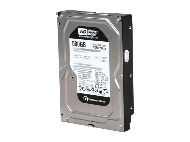 """Western Digital Black WD5002AALX 500GB 7200 RPM 32MB Cache SATA 6.0Gb/s 3.5"""" Internal Hard Drive Bare Drive"""