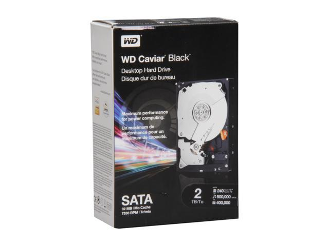 "WD Caviar Black WDBAAZ0020HNC-NRSN 2TB 7200 RPM 32MB Cache SATA 3.5"" Internal Hard Drive Retail kit"