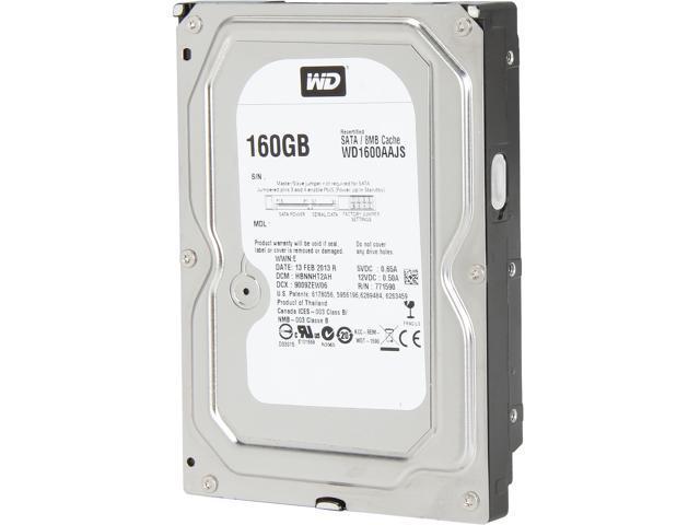 WD WD1600AAJS-FR 160GB 7200 RPM 8MB Cache SATA 3.0Gb/s 3.5
