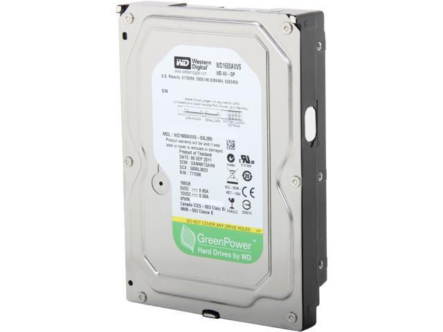 WD WD1600AVVS-FR 160GB 8MB Cache SATA 3.0Gb/s 3.5