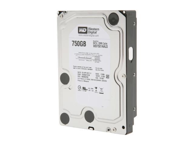 WD Black WD7501AALS 750GB 7200 RPM 32MB Cache SATA 3.0Gb/s 3.5