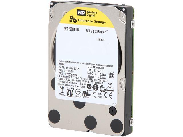 WD VelociRaptor WD1500BLHX 150GB 10000 RPM SATA 6.0Gb/s 2.5