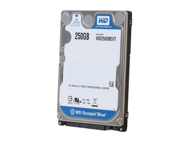 WD Scorpio Blue WD2500BEVT 250GB 5400 RPM 8MB Cache SATA 3.0Gb/s 2.5