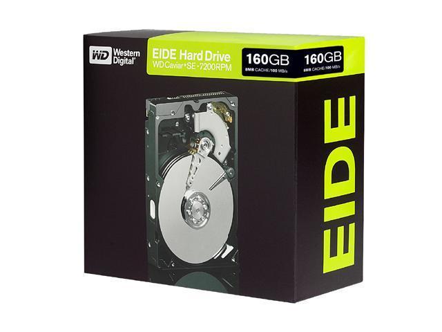 """Western Digital Caviar SE WD1600JBRTL 160GB 7200 RPM 8MB Cache IDE Ultra ATA100 / ATA-6 3.5"""" Hard Drive"""