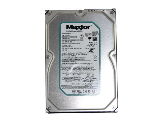 Maxtor DiamondMax 21 STM3320620AS 320GB 7200 RPM 16MB Cache SATA 3.0Gb/s 3.5