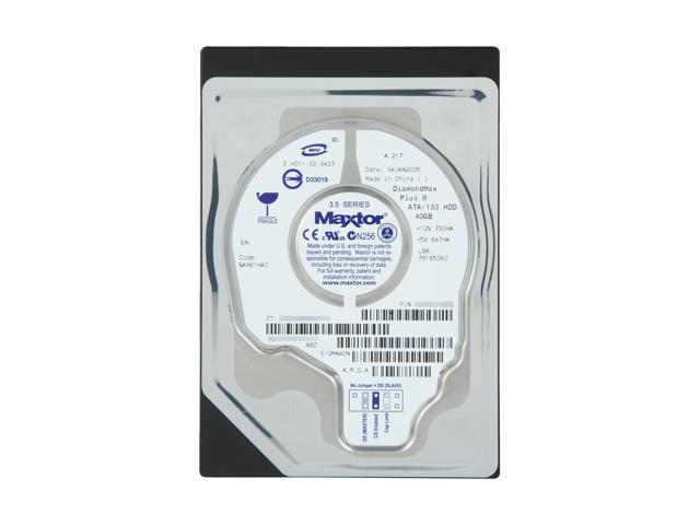 "Maxtor DiamondMax Plus 8 6E040L0 40GB 7200 RPM 2MB Cache IDE Ultra ATA133 / ATA-7 3.5"" Hard Drive"