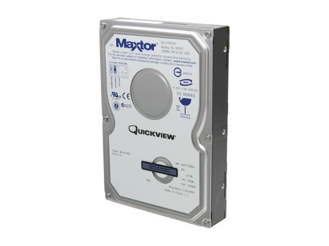 "Maxtor 6L160P0 160GB IDE Ultra ATA133 / ATA-7 3.5"" Internal Hard Drive -Bare Drive"