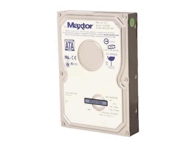 Maxtor MaXLine III 7L250S0 250GB 7200 RPM 16MB Cache SATA 1.5Gb/s 3.5