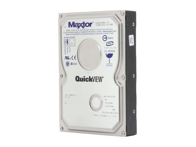 "Maxtor DiamondMax 16 4R120L0 120GB 5400 RPM IDE Ultra ATA133 / ATA-7 3.5"" Internal Hard Drive Bare Drive"