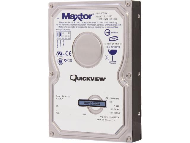 Maxtor 6L120P0031LP6 120GB Internal Hard Drive Bare Drive