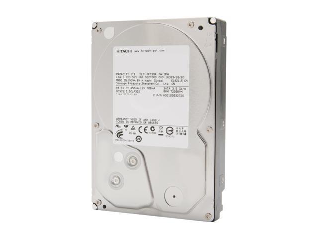 """HGST Deskstar 7K1000.C 0F10383 1TB 7200 RPM 32MB Cache SATA 3.0Gb/s 3.5"""" Internal Hard Drive Bare Drive"""