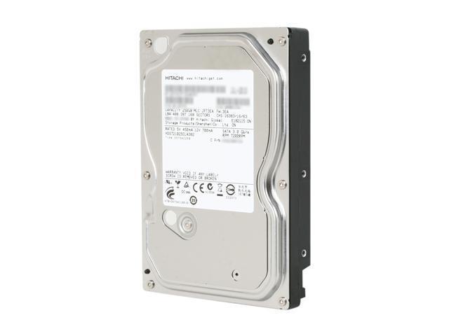 Hitachi GST Deskstar 7K1000.C 0F10379 250GB 7200 RPM 8MB Cache SATA 3.0Gb/s 3.5