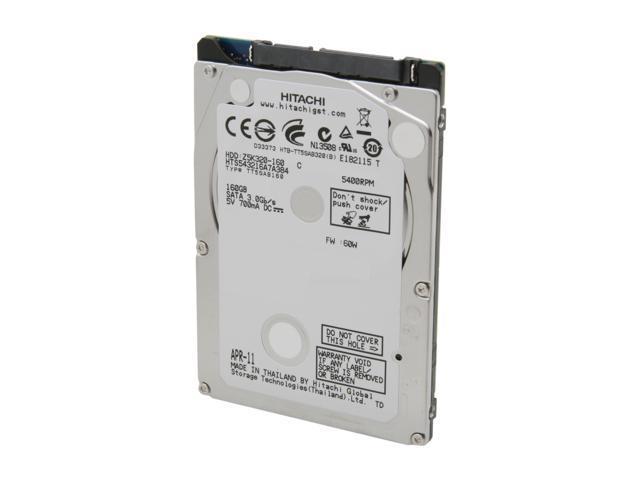 HGST Travelstar Z5K320 HTS543216A7A384 (0A78601) 160GB 5400 RPM 8MB Cache SATA 3.0Gb/s 2.5