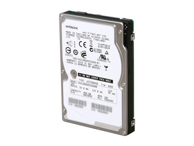 "HGST Ultrastar 0B25095 450GB 10000 RPM 64MB Cache SAS 6Gb/s 2.5"" Enterprise Hard Disk Drive Bare Drive"