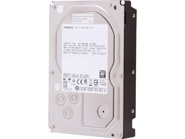 "Hitachi GST Deskstar 7K4000 HDS724040ALA640 (0F14681) 4TB 7200 RPM 64MB Cache 3.5"" Internal Hard Drive Bare Drive"