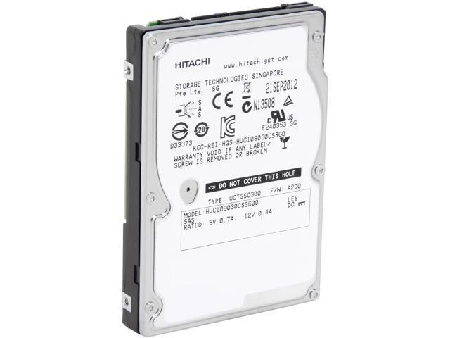Hitachi GST Ultrastar C10K900 HUC109030CSS600 (0B26011) 300GB 10000 RPM 64MB Cache SAS 6Gb/s 2.5