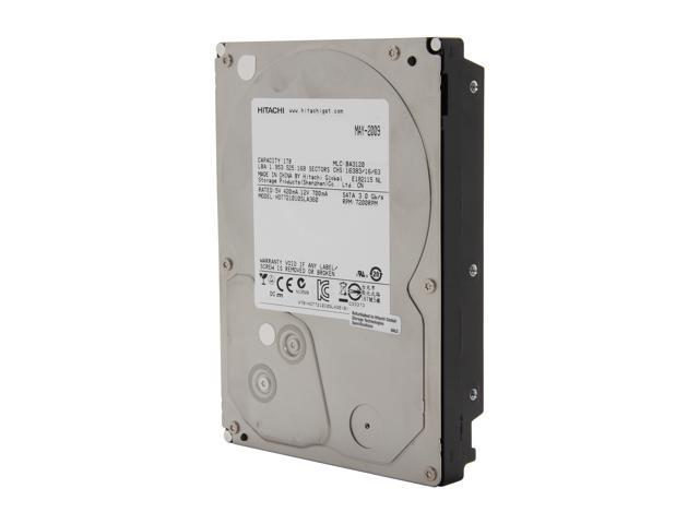 "Hitachi GST 0A38016 1TB 7200 RPM 16MB Cache SATA 3.0Gb/s 3.5"" Internal Hard Drive Bare Drive"