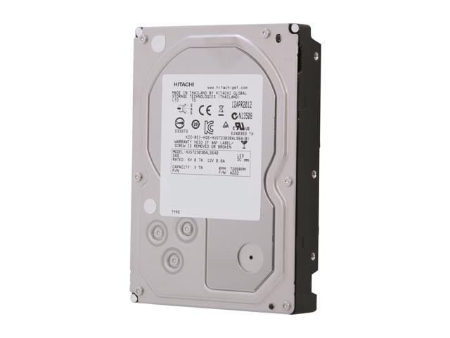 "Hitachi GST Ultrastar 7K3000 HUS723030ALS640 (0B26311) 3TB 7200 RPM 64MB Cache SAS 6Gb/s 3.5"" Enterprise Hard Drive Bare ..."